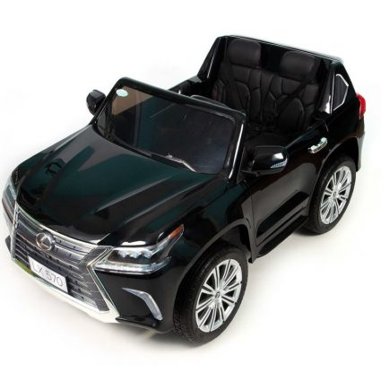 Электромобиль LEXUS LX 570 MP4 4WD черный (сенсорный дисплей, легко съемный аккумулятор, 2х местный, резина, кожа, пульт, музыка)